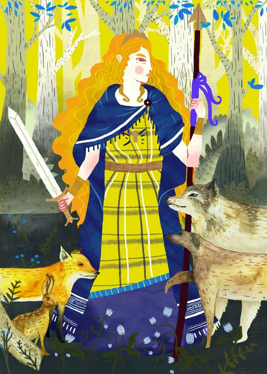 Boudica by Sophie Blackhall Cain http://lightgreyartlab.com/girls-fact-fiction