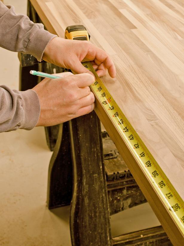 Do it yourself butcher block kitchen countertop butcher for Cheap kitchen benchtop ideas