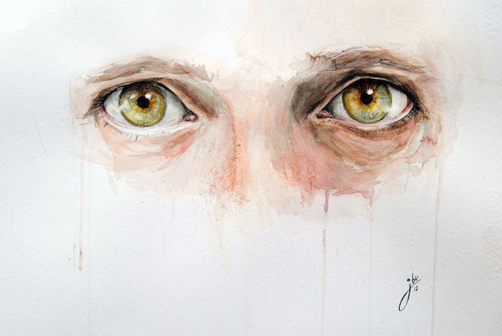 Alluring Watercolor Paintings Prove that Eyes are Windows to the Soul - My Modern Met
