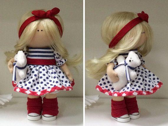 Tilda doll Rag doll Fabric doll Textile doll by AnnKirillartPlace