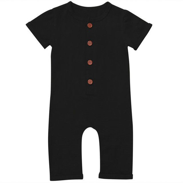 - Baby Boy Romper - Short Sleeve - Black or Grey Free Shipping! Please allow 2-4 weeks for delivery.