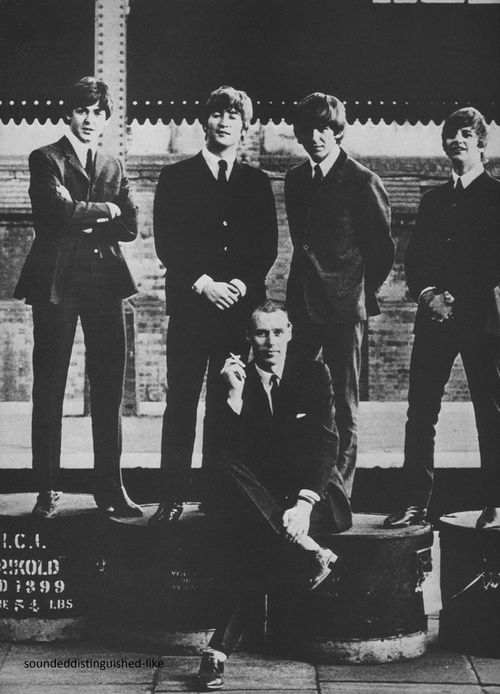 The Beatles, all 5 of them  - the beatles with their producer george martin