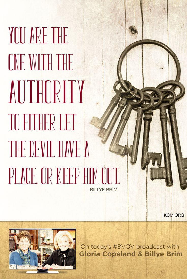 You've been raised to a place of authority with Jesus, so you must take that authority and give no place to the devil. - See more at: http://www.kcm.org/watch/tv-broadcast/take-your-place-authority#sthash.Z3marJjw.dpuf