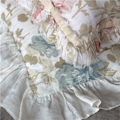 Euro pillows with ruffles