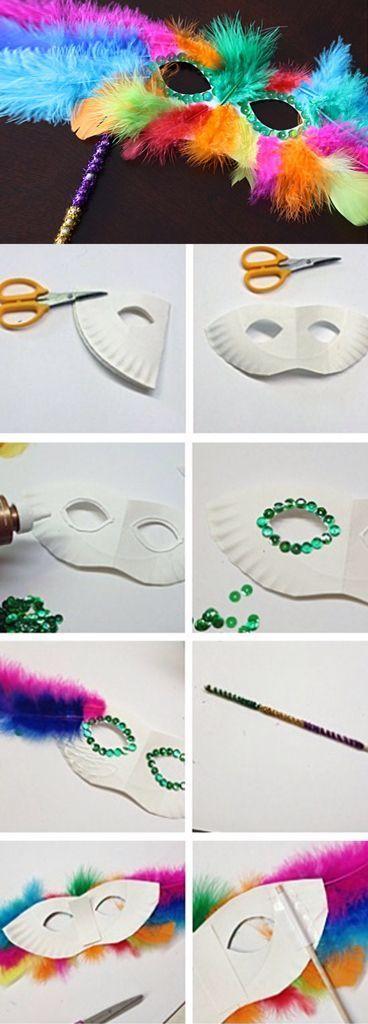 Como hacer antifaces para fiestas elegante o de carnaval