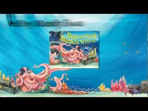 TRAILER - Below Deck on the Sunken Wreck - by Mandy Foot  Best known for her uniquely Australian animals, Mandy Foot extends her repertoire to a world full of different ocean-going creatures in this book.    Down at the bottom of the deep blue sea a playground waits for you and me!   Beneath the waves, where the coral grows, this is where the sea creatures go ...    ISBN: 9780734412829 PB Published by Lothian Children's Books, a division of Hachette Children's Books