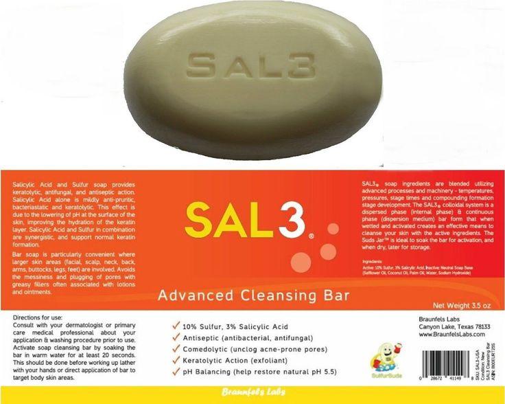 SAL3 Salicylic Acid and Sulfur Soap