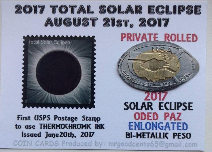 #art 2017 SOLAR ECLIPSE Peso * RARE ! LTD Edition ACEO Keepsake Coin please retweet