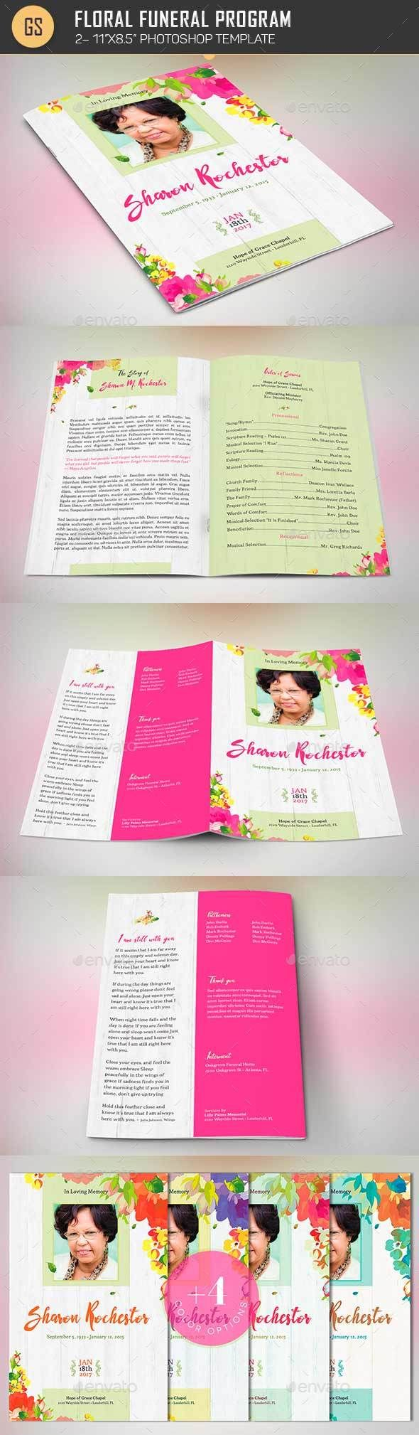 Page Funeral Booklet TemplateV  Shops Funeral And Templates