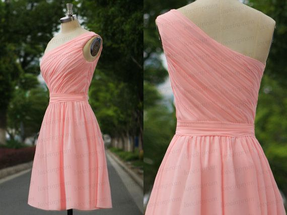 Short pink bridesmaid dresspink wedding party by loveinprom