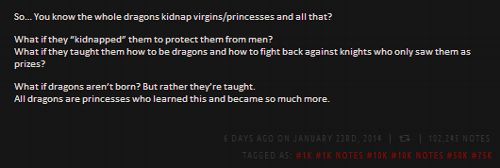 I need to write something like this someday. A fairy tale from the dragons perspective!