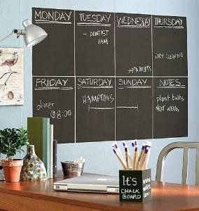 Removable Black Chalkboard Wall Paper/decal School & Home Chalk Blackboard Sticker 200 X 45 Cm Plus 5 Chalks  £2.99