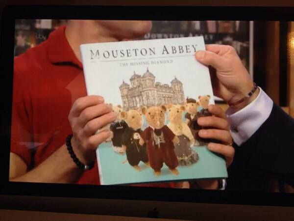 Julian Ovenden and Alan Titchmarsh show off the marvellous Mouseton Abbey to ITV viewers on 18th October 2013.