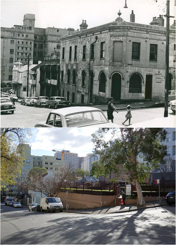 Cnr Smith & Reservoir Sts Surry Hills, c1960s > 2016. [City of Sydney archives > Kevin Sundgren. By Kevin Sundgren]