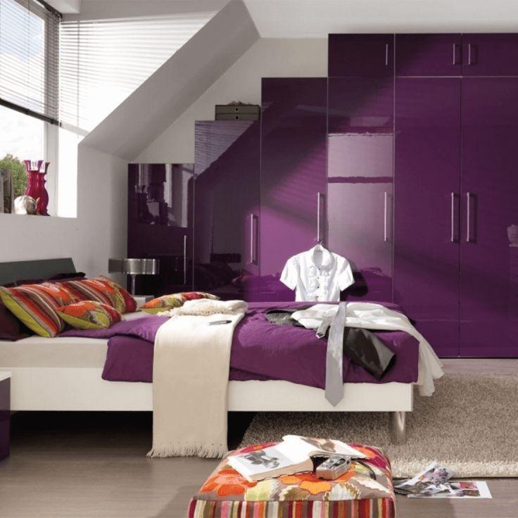 Die besten 25+ Lila schlafzimmer Ideen auf Pinterest Farbmuster - wohnzimmer grau lila weiss
