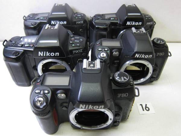 NIKON  F90X ※外観にベタつき。電池カバー欠損。 NIKON  F90X ※外観にベタつき。 NIKON  F90X ※外観にベタつき。 NIKON  F80 ※外観にベタつき。 NIKON  F80 ※外観にベタつき。