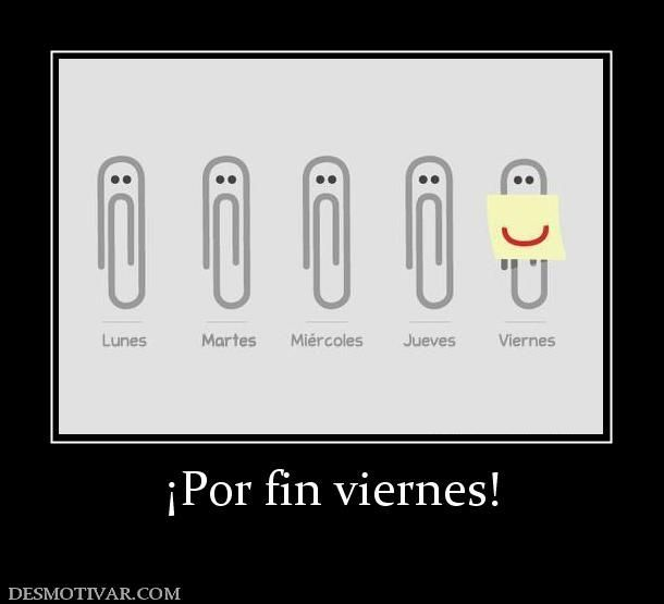 Por fin viernes - teaching days of the week in Spanish class