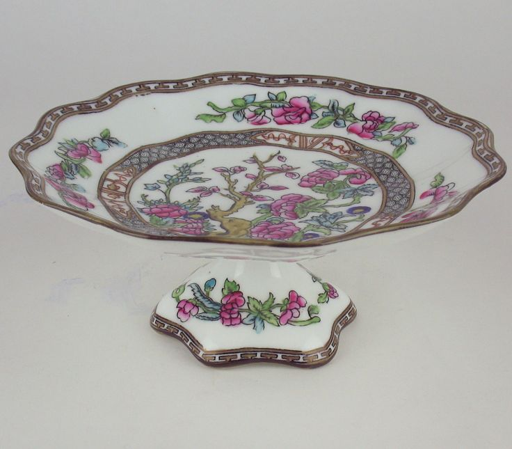 Tazza Compote Serving Stand Coalport Indian Tree Vintage England Multicolored | eBay