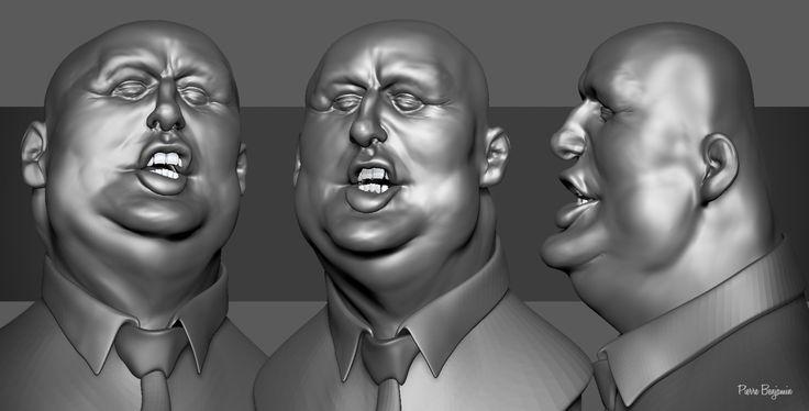 Donald Trump 3D Sculpt in ZBrush inspired by Jason Seiler 2D Caricature, Pierre Benjamin on ArtStation at https://www.artstation.com/artwork/nZEWO
