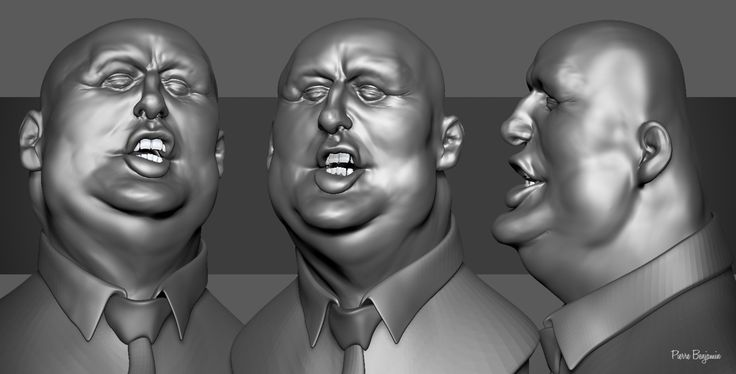 Donald Trump 3D Sculpt in ZBrush inspired by Jason Seiler 2D Caricature, Pierre Benjamin on ArtStation at https://www.artstation.com/artwork/nZEWO