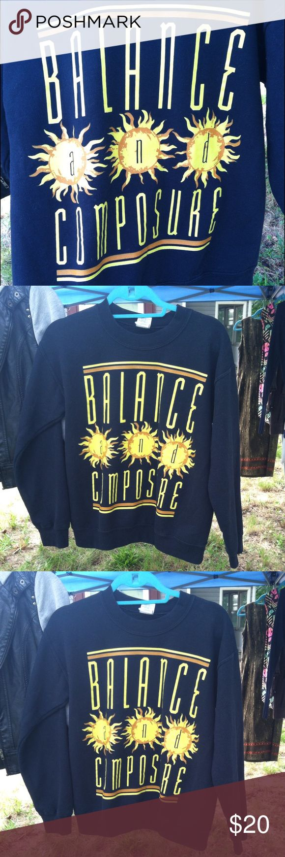 Balance and Composure crew neck Super comfy Balance and Composure crew neck, can fit small to large it would just be baggy vs tight fitting.  Tags ~ band merch • transit • the story so far • tigers jaw • pop punk Sweaters Crew & Scoop Necks