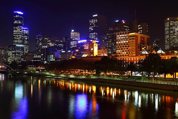 Melbourne City Night Lights