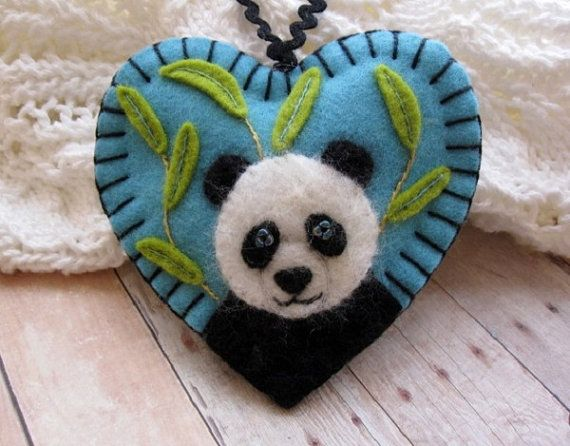 Peaceful Panda Ornament by SandhraLee on Etsy, $19.50