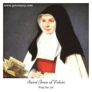 The 4th of February is the feast day of Saint Joan of Valois, also known as Joan of France, Duchess of Berry. #saint #saints #saintoftheday #catholic #catholicsaint #catholicsaint