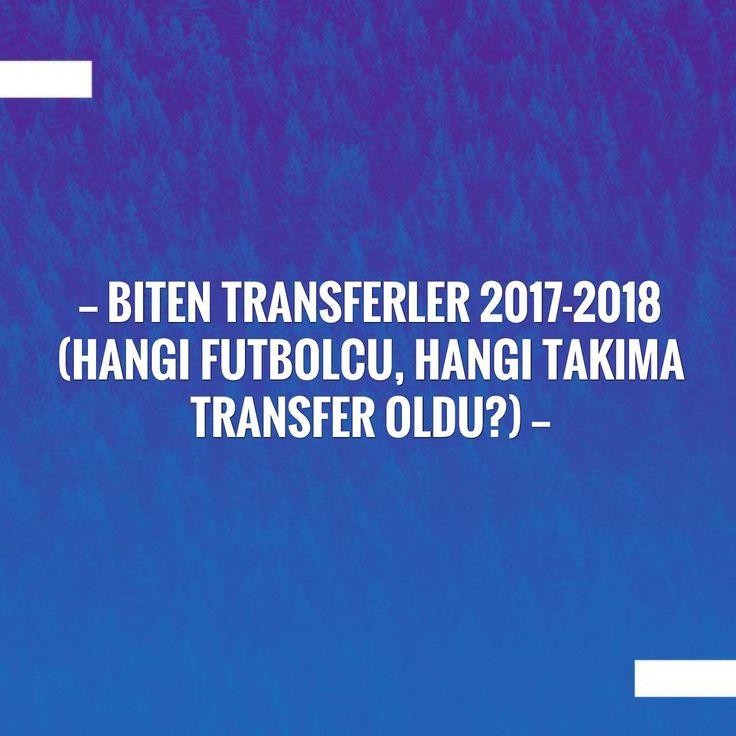 Just posted! Biten transferler 2017-2018 (Hangi futbolcu, hangi takıma transfer oldu?) http://eftforum.tk/biten-transferler-2017-2018-hangi-futbolcu-hangi-takima-transfer-oldu/?utm_campaign=crowdfire&utm_content=crowdfire&utm_medium=social&utm_source=pinterest
