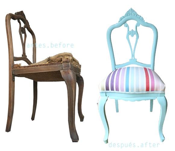 Tutorial: cómo dar nuevo aire a unas sillas antiguas [] Tutorial: chairs makeover