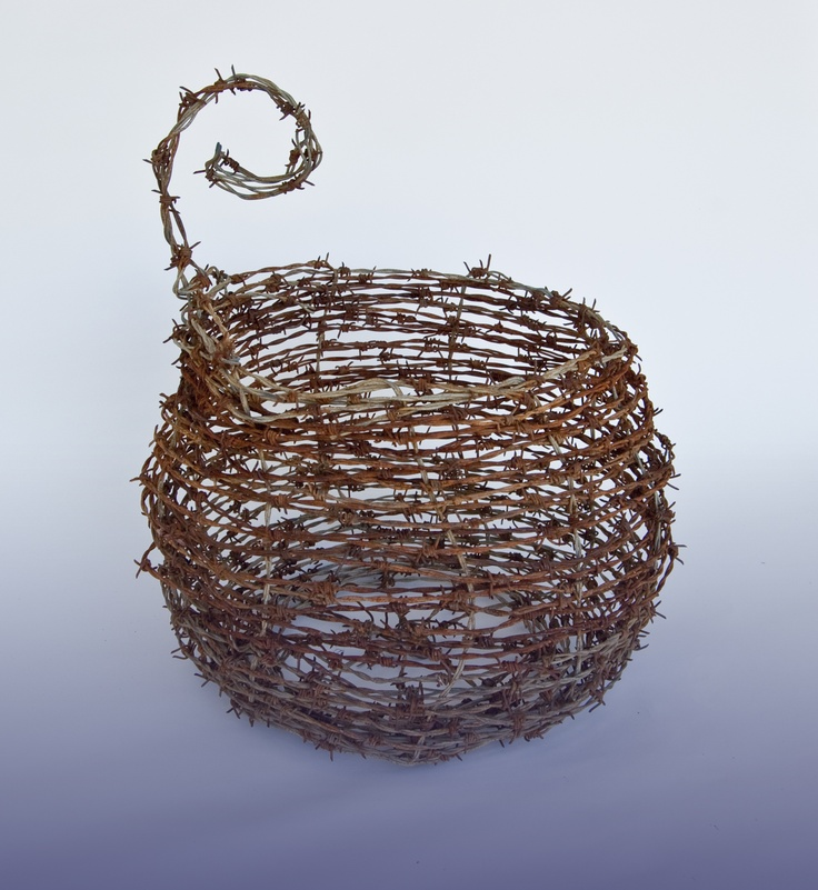 barbed wire basket