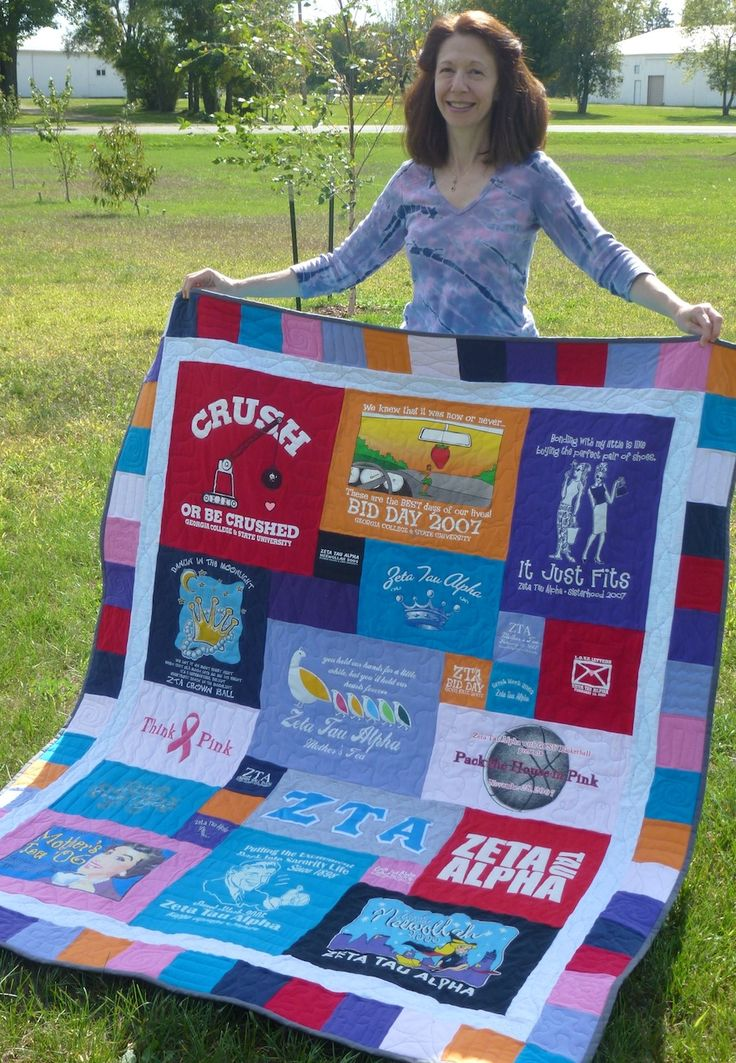 Getting ready to tackle Katie's 100+ tshirts, thinking all three girls will want one eventually, new business possibilities...check out my Etsy site at my store QuiltMyMemories!