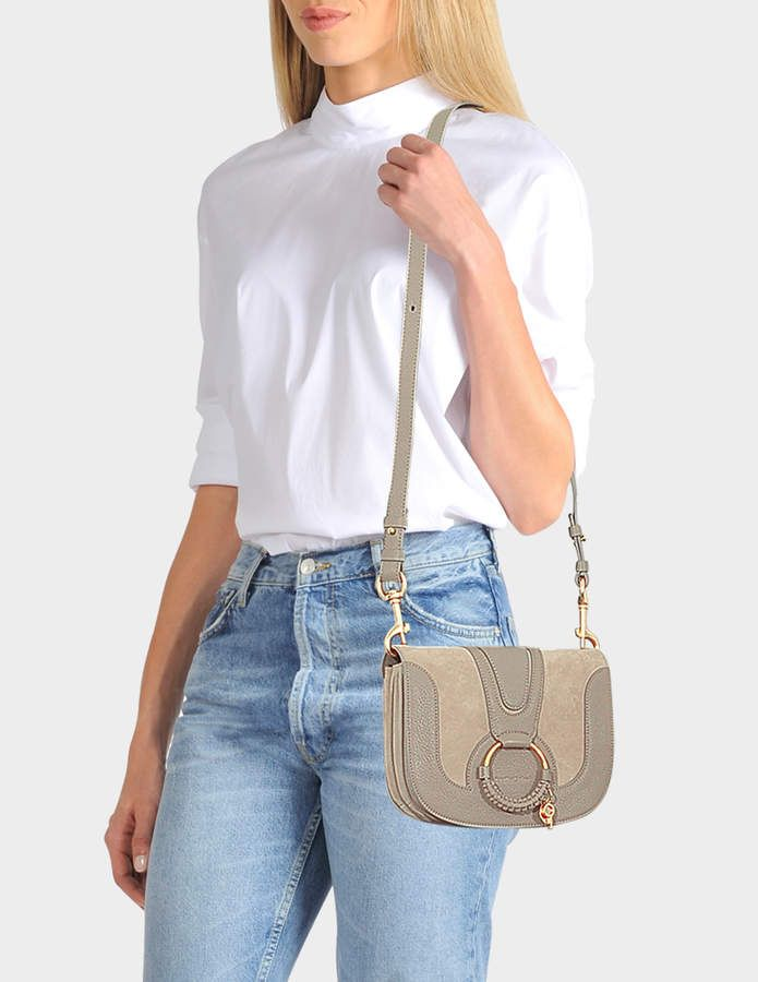 hot-selling professional shoes for cheap reputable site Hana Small Crossbody Bag in Motty Grey Grained Cowskin and ...
