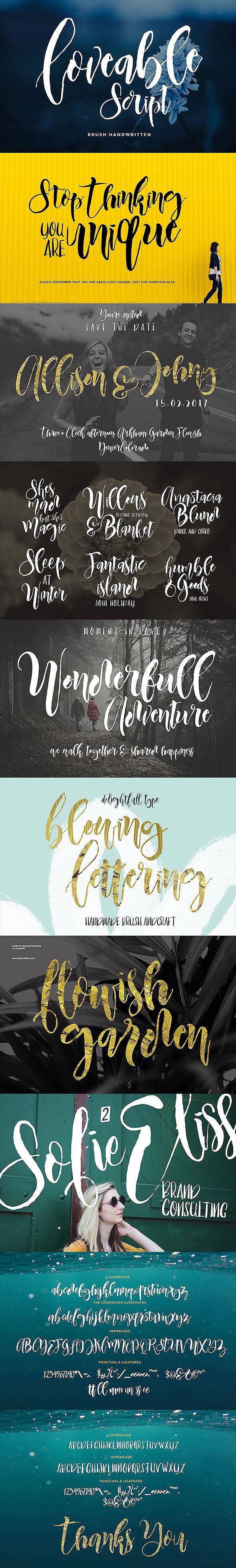Loveable Script Font Duo 1190 best fonts