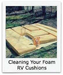 Cleaning pop up camper cushions