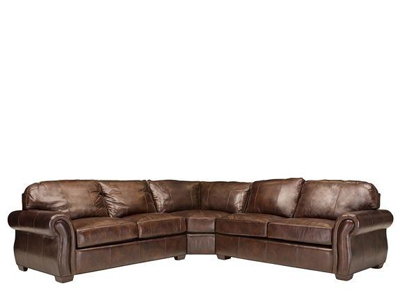 emery leather sectional sofa w full sleeper