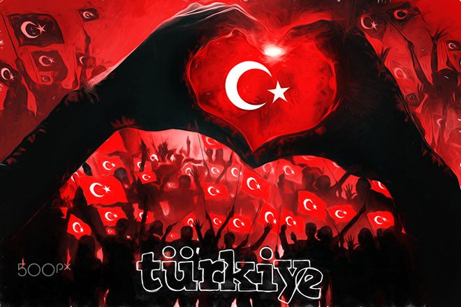 Türkiye - Türkiye Bayrak ve Kutlama Tasarım Çalışması