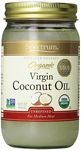 Spectrum Organic Coconut Oil, Unrefined, 14 oz - http://goodvibeorganics.com/spectrum-organic-coconut-oil-unrefined-14-oz/