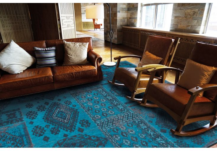 Dywany Boho :: Dywan vintage 8906 Blue Lagoon turkusowy - Carpets&More - wysokiej klasy dywany i akcesoria tekstylne