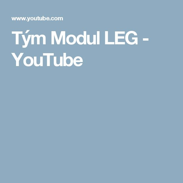 Tým Modul LEG - YouTube