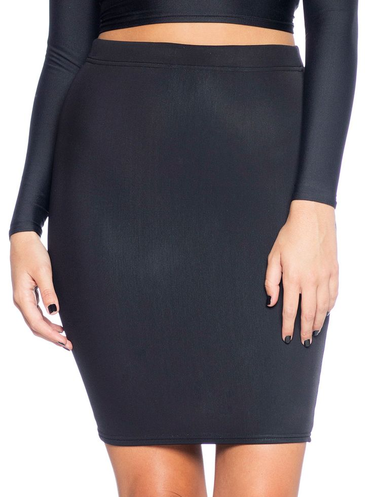 Warm Black Pencil Skirt (AU $50AUD) by Black Milk Clothing