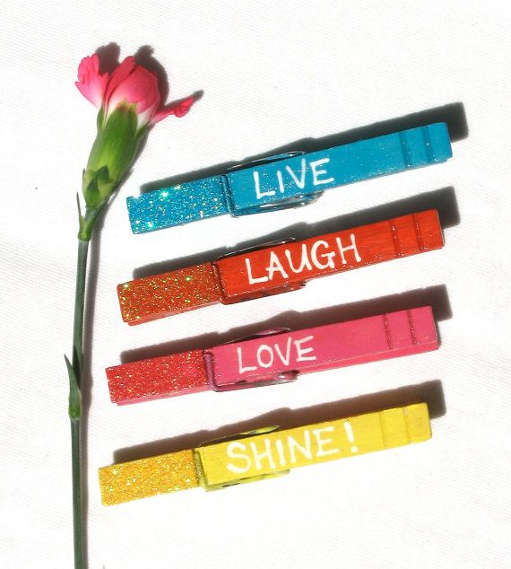 SHINE CLOTHESPIN MAGNET hand painted by SugarAndPaint on Etsy, $12.00
