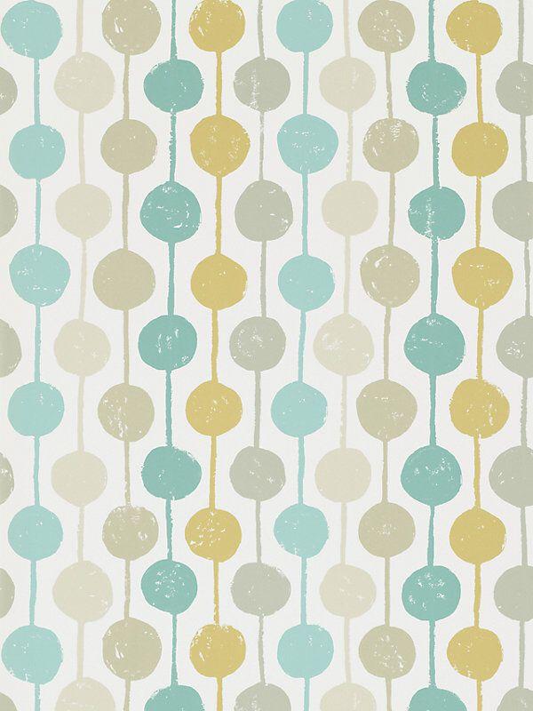 Scion Taimi Wallpaper, Seaglass/Chalk, 111126