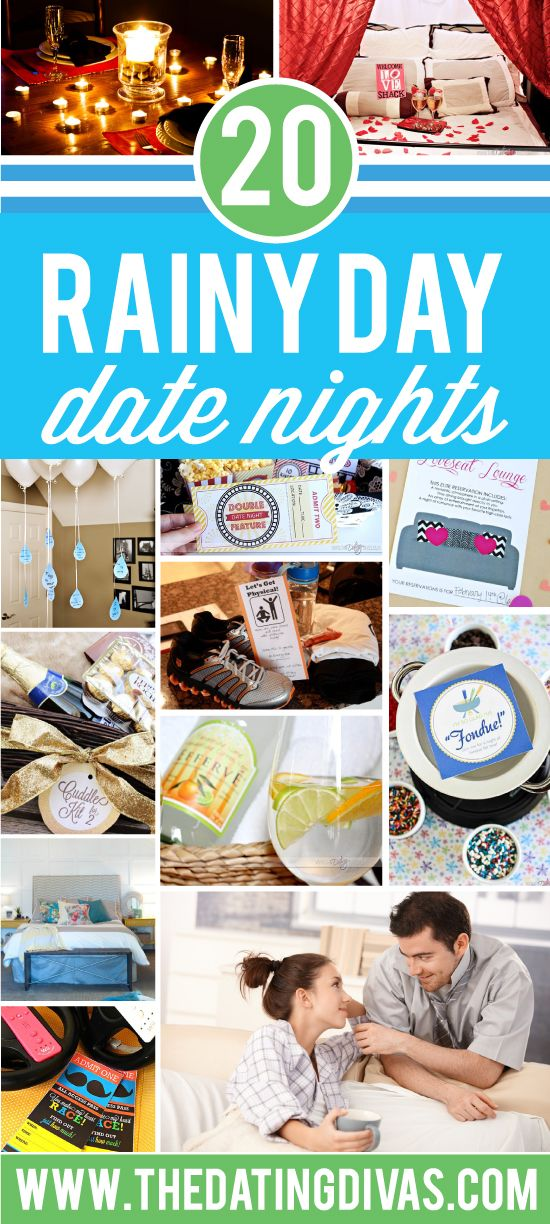 Rain keeping you in? I love ALL of these indoor date night ideas! www.TheDatingDivas.com