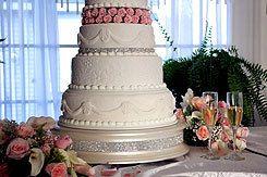 "18"" Champagne Gold Diamond Wedding Cake Stand. $144.95, via Etsy."