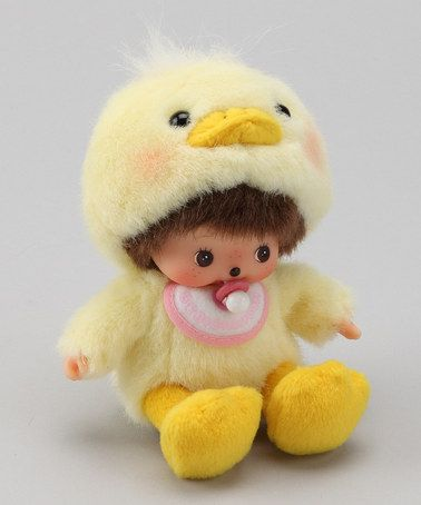 Take a look at this Yellow Chick Bebichhichi by Monchhichi on #zulily today!