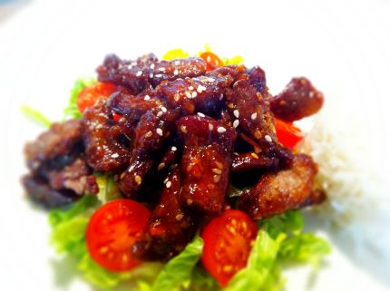 CRISPY CHILLI BEEF ~ Beats a take-away every time