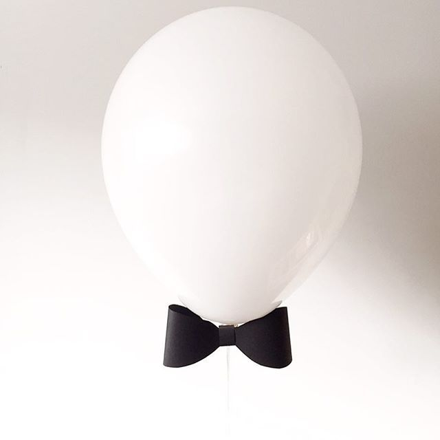 Dressed up with a bow tie. Creating this prototype for a fun party coming up in March has me wishing for a room full of tuxedo balloons!  #funfiestasbyili #partywithFFBI #customballoons #bowtie