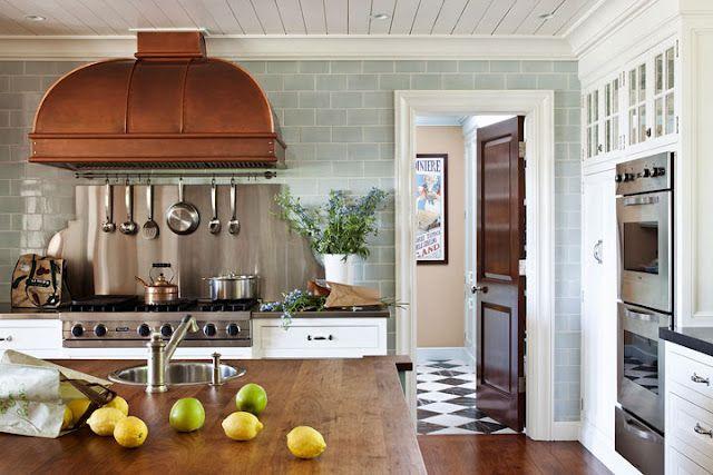 ..: Copper Hoods, Dreams Kitchens, Kitchens Tile, Subway Tile, Interiors Design, Range Hoods, Tile Wall, Vent Hoods, Kitchens Hoods