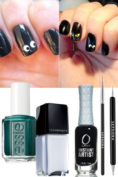 #Halloween Inspired Manicures - Get the Spooky Eyes Look